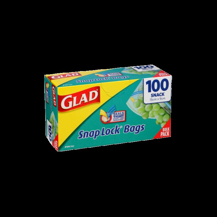 Glad® Snap Lock® Reseal Bags – Snack 100pk