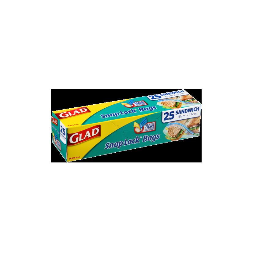 Glad® Snap Lock® Reseal Bags – Sandwich 25pk