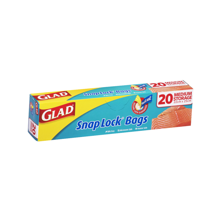 Glad® Snap Lock® Reseal Bags – Storage Medium 20pk