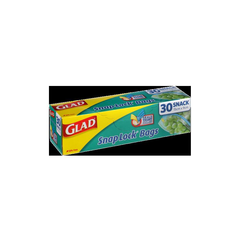Glad® Snap Lock® Reseal Bags – Snack 30pk