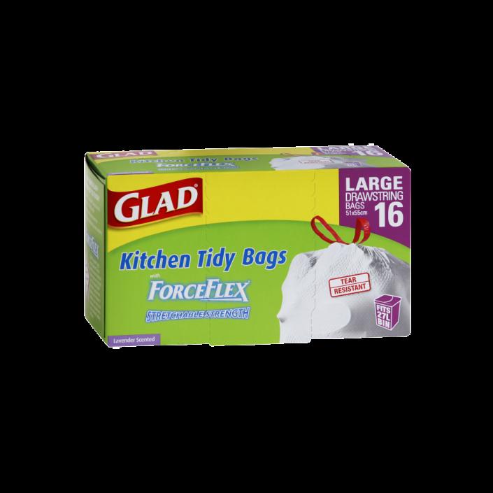 Glad® ForceFlex Kitchen Tidy Bags Large 16pk