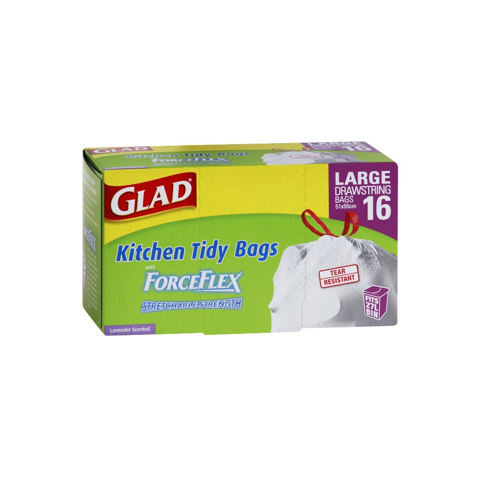 Glad® ForceFlex Kitchen Tidy Bags Large 16pk