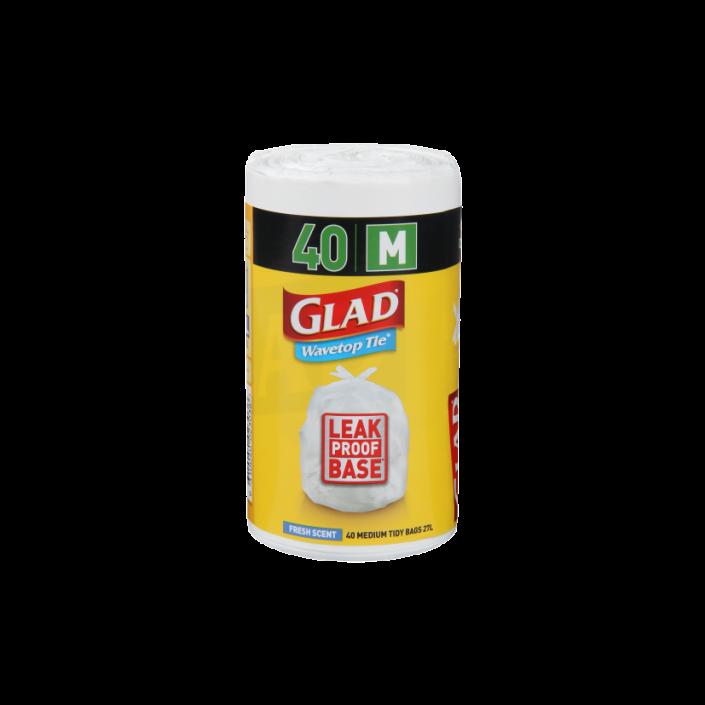 Glad® Wavetop Tie® Bags Medium 40pk