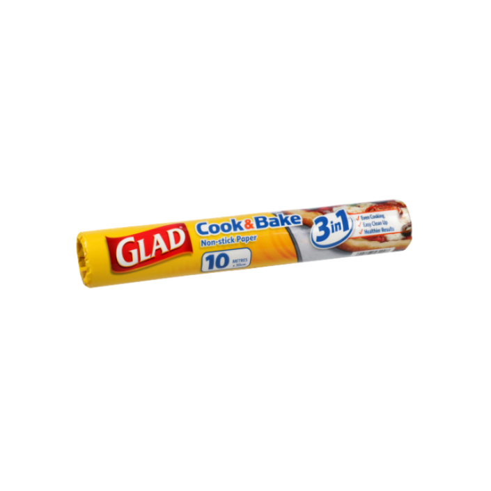 Glad® Cook &  Bake Paper 10m Refill