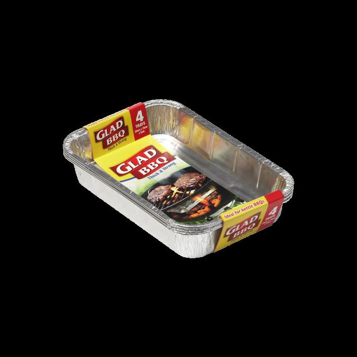 Glad® BBQ Trays 4pk