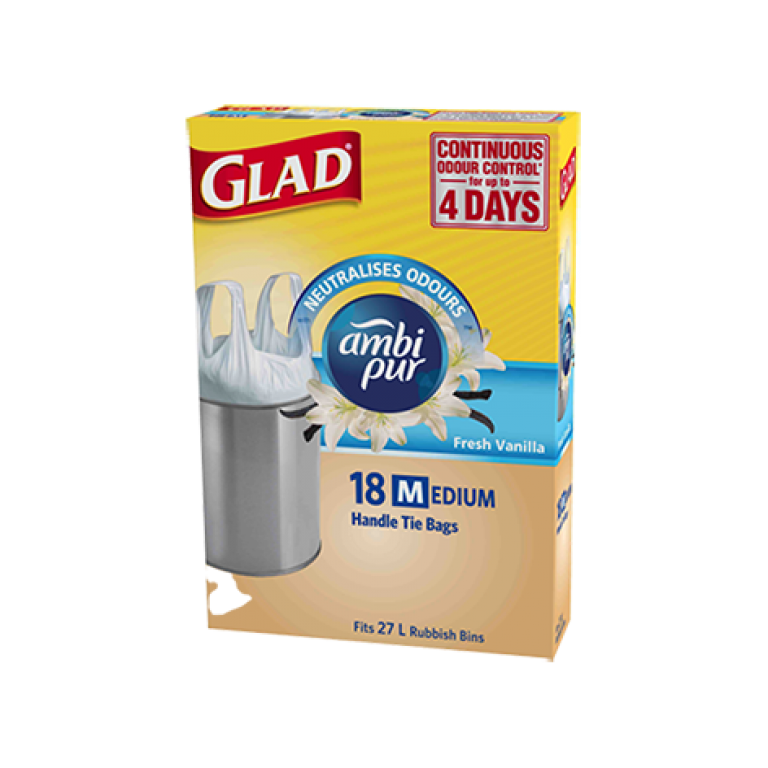 Glad® Ambi Pur Handle Tie Bags Medium 18pk