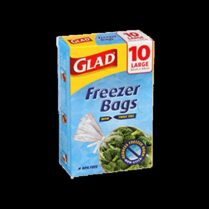 Glad® Freezer Bags Large 10pk