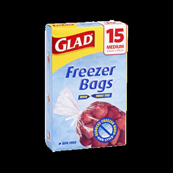 Glad® Freezer Bags Medium 15pk