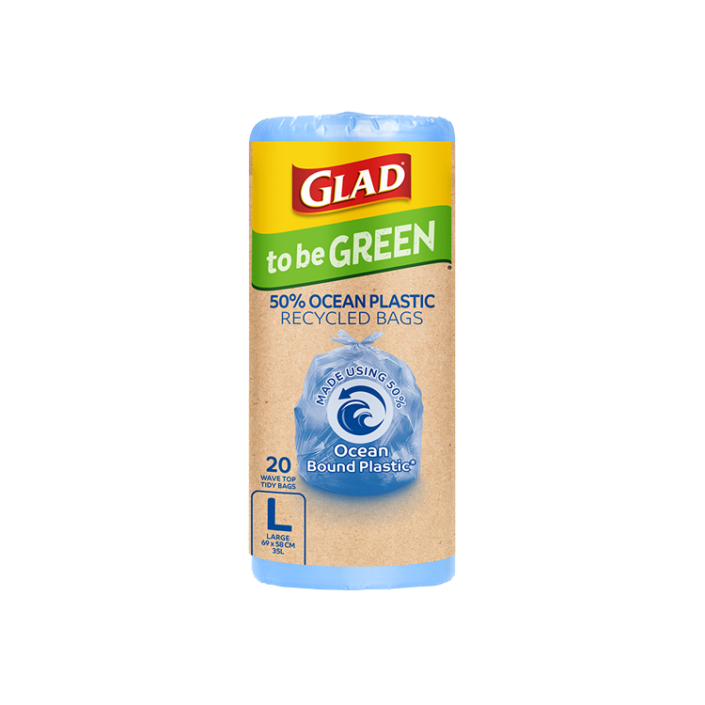 Glad to be Green 50% Ocean Recycled Kitchen Tidy Bag Large 20pk