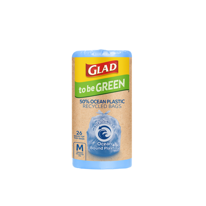 Glad to be Green 50% Ocean Recycled Kitchen Tidy Bag Medium 26pk